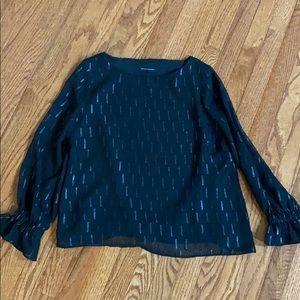 Banana Republic black fancy blouse size M
